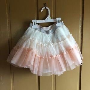 Little girl pink blush crinoline tulle skirt.